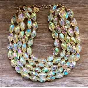 Gorgeous iridescent bead choker.